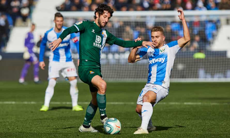 Esteban Granero in action for Espanyol against Leganes in December, before his move to Marbella.