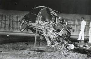 Untitled c. 1950 (car wreckage)
