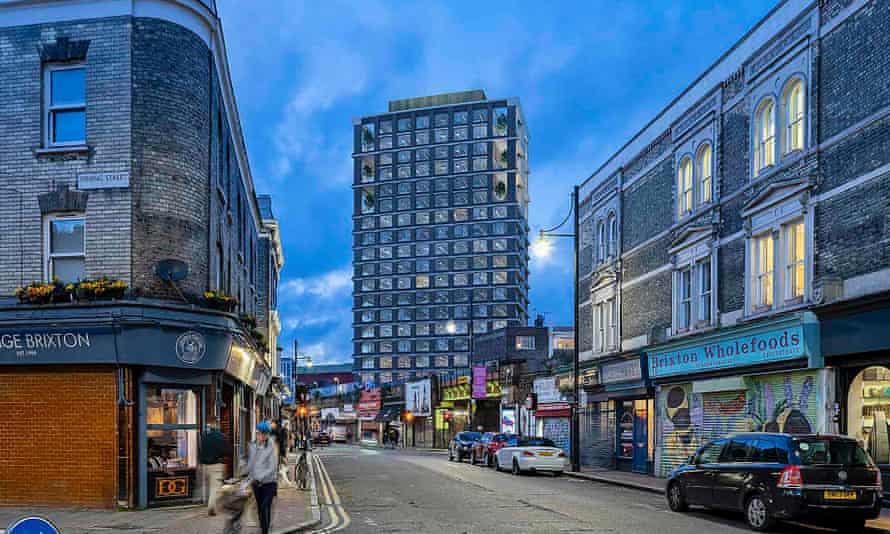 An artist's impression of how Hondo's planned tower block on Pope Road, Brixton, would look.