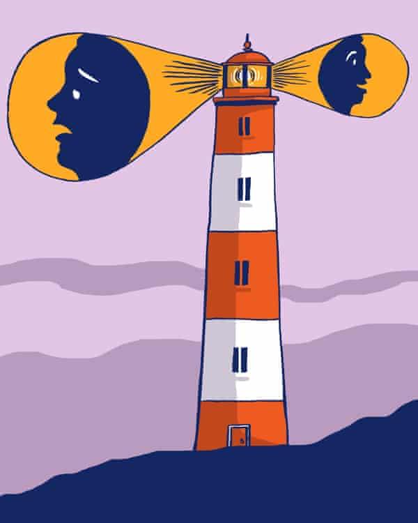 Dom McKenzie 'lighthouse of the mind' illustration