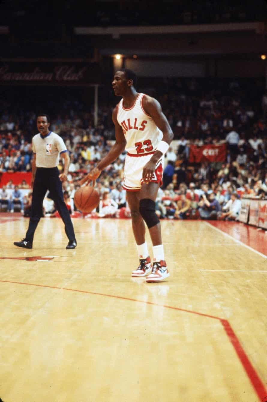 Michael Jordan S First Ever Air Jordan Sneakers Sell For 560 000 At Auction Michael Jordan The Guardian