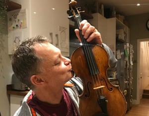 Stephen Morris reunited with his 1709 Tecchler violin