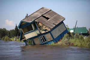Irkutsk, RussiaA Destroyed house in the flood-affected town of Tulun