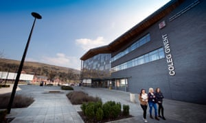 The Learning Zone, a new college, in Ebbw Vale.