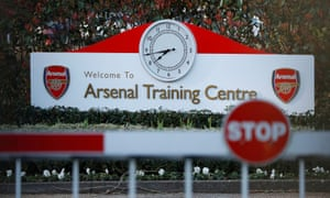 Arsenal's training ground at London Colney in Hertfordshire