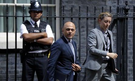 Sajid Javid at 10 Downing Street.