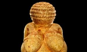 The 'Venus of Willendorf', dating to around 30,000 BCE, in the Museum of Natural History (Naturhistorishes Museum), Vienna, Austria.