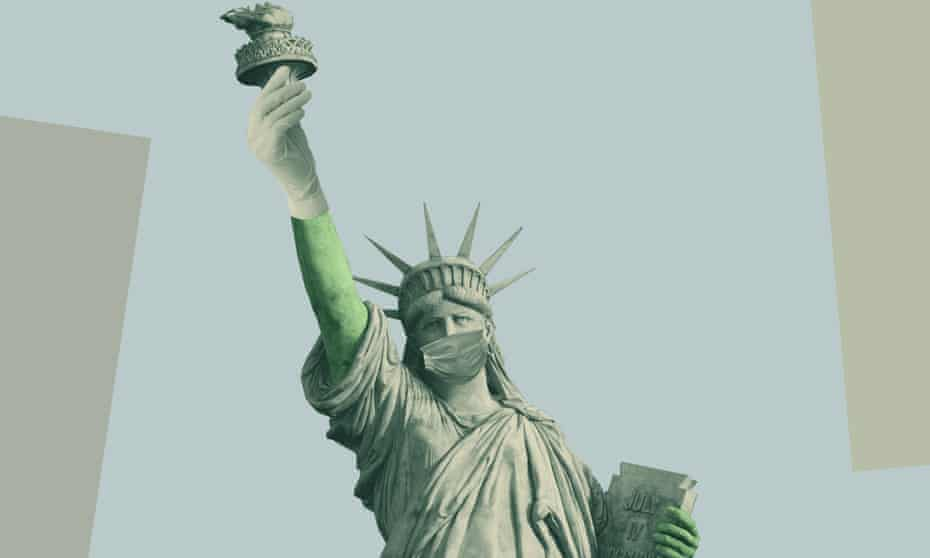 Altered statue of liberty