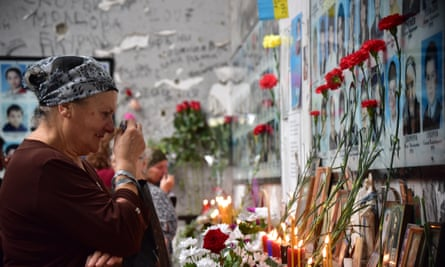 People commemorate the victims of the 2004 Beslan school siege