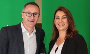 Greens Northcote candidate Lidia Thorpe, pictured with federal leader Richard Di Natale,