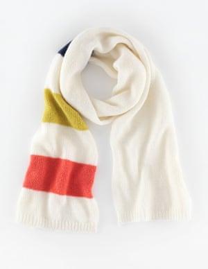 "£39, <a href=""http://www.boden.co.uk/en-GB/Womens-Accessories/Hats,-Scarves-Gloves/AD200/Womens-Stripe-Scarf.html"">boden.co.uk </a>"