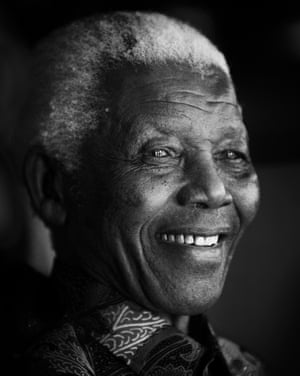 Nelson Mandela in Johannesburg, South Africa, 2009
