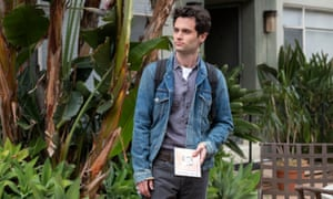 Focus of attention … Penn Badgley in You.