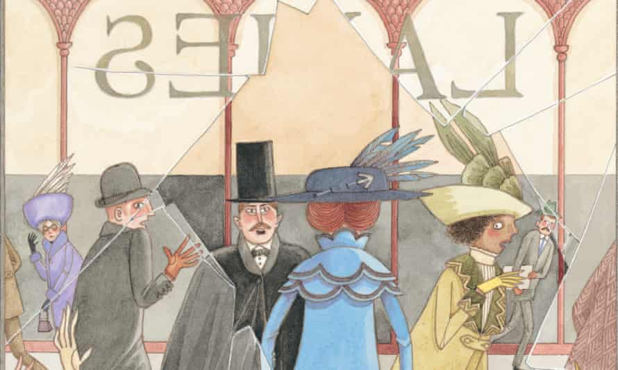 One of David Roberts's colourful illustrations from Suffragette: The Battle for Equality.