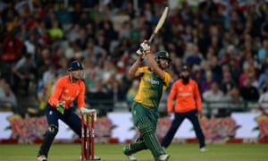 Rilee Rossouw in action for South Africa in a Twenty20 match against England at Newlands last February