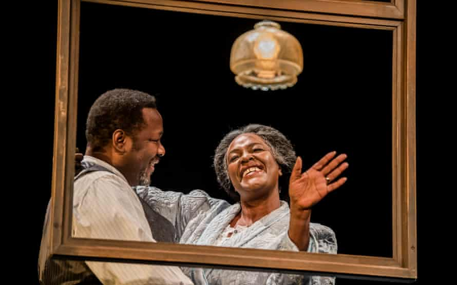 She emanates personality in every role she plays ... Wendell Pierce and Sharon D Clarke in Death of a Salesman.