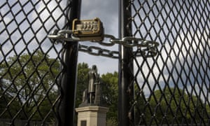The Emancipation Memorial in Washington DC, on 26 June.