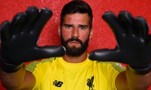 Alisson was Brazil's goalkeeper at the World Cup and now replaces Loris Karius as No 1 at Anfield.