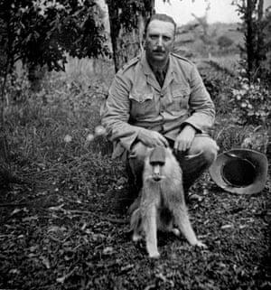 Cherry Keaton with colobus monkey