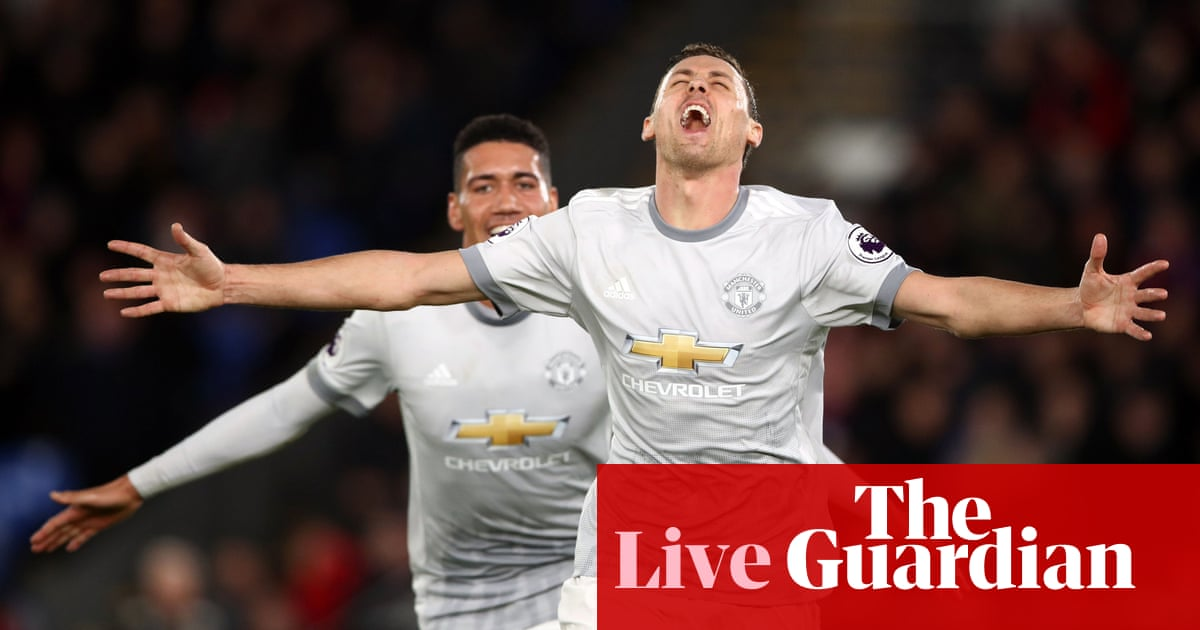 Crystal Palace 2-3 Manchester United  Premier League – as it happened  46d0cf346