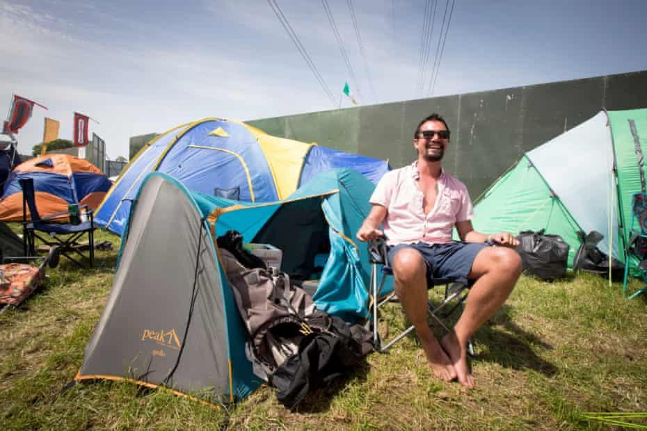 Jim Riach by his tent