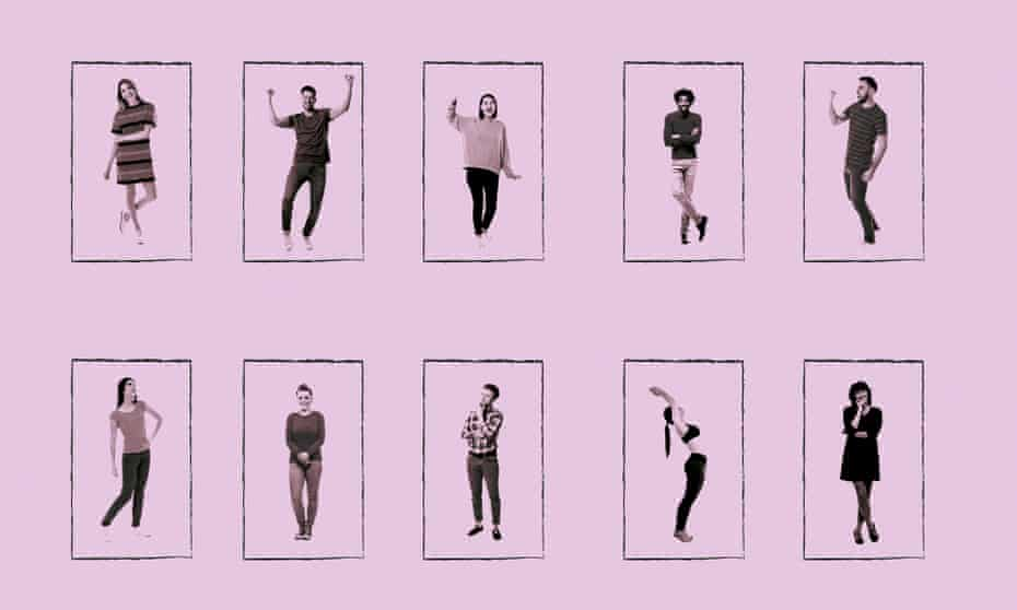 Montage of people in different poses