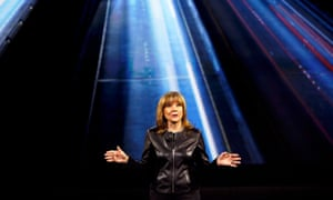 General Motors chair Mary Barra speaks during a keynote address at the 2016 CES trade show in Las Vegas