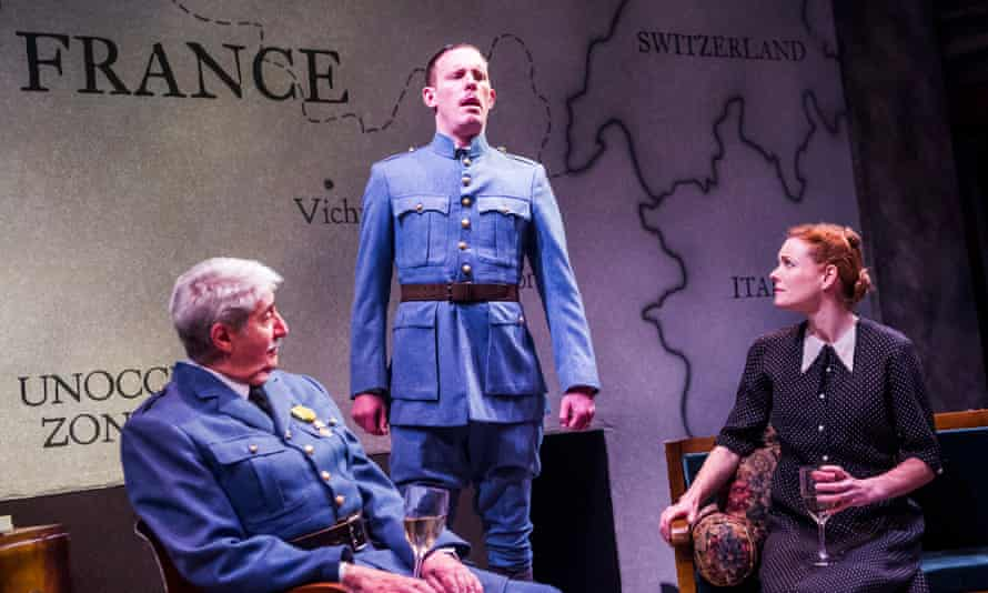 From left: Tom Conti, Laurence Fox and Ruth Gibson in The Patriotic Traitor
