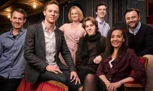 The Australian cast of Harry Potter and the Cursed Child, from left: Tom Wren as Draco Malfoy, Gareth Reeves as Harry Potter, Lucy Goleby as Ginny Potter, Sean Rees-Wemyss as Albus Potter, William McKenna as Scorpius Malfoy, Paula Arundell as Hermione Granger and Gyton Grantley as Ron Weasley.