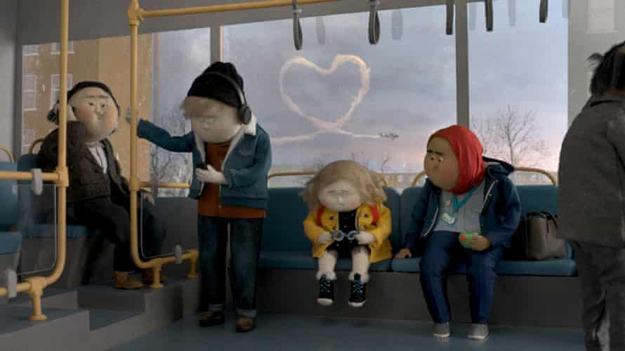 A still from the news John Lewis Christmas ad. The partnership aims to raise millions of pounds for the charities FareShare and Home-Start through the campaign.