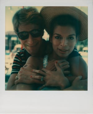 Yves Saint Laurent and Bianca Jagger in Venice in 1973 from Andy Warhol, Polaroids 1958-1987