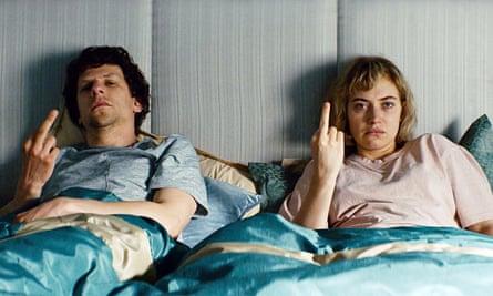 Jesse Eisenberg and Imogen Poots in Vivarium.