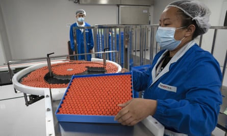 The Sinovac vaccine factory in China, which has signed up to the Covax facility.