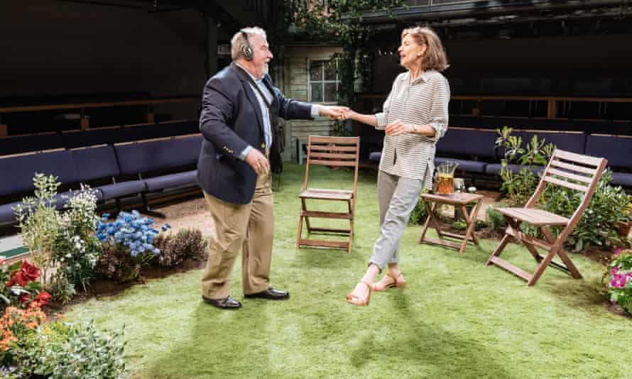 Paul Bradley and Belinda Lang in Humble Boy at Orange Tree theatre