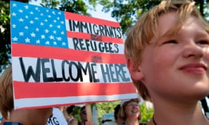 Pro-immigration protestors at a rally in June. Since 1999 authorities have not been able to consider non-cash benefits in immigration applications.