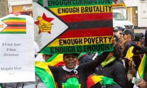 Exiled Zimbabweans London