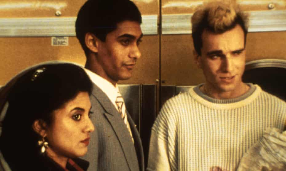 Rita Wolf, left, with Gordon Warnecke and Daniel Day Lewis in My Beautiful Laundrette.
