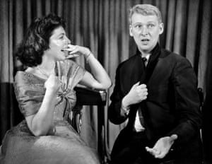 Improv pioneers … Elaine May and Mike Nichols in 1958.