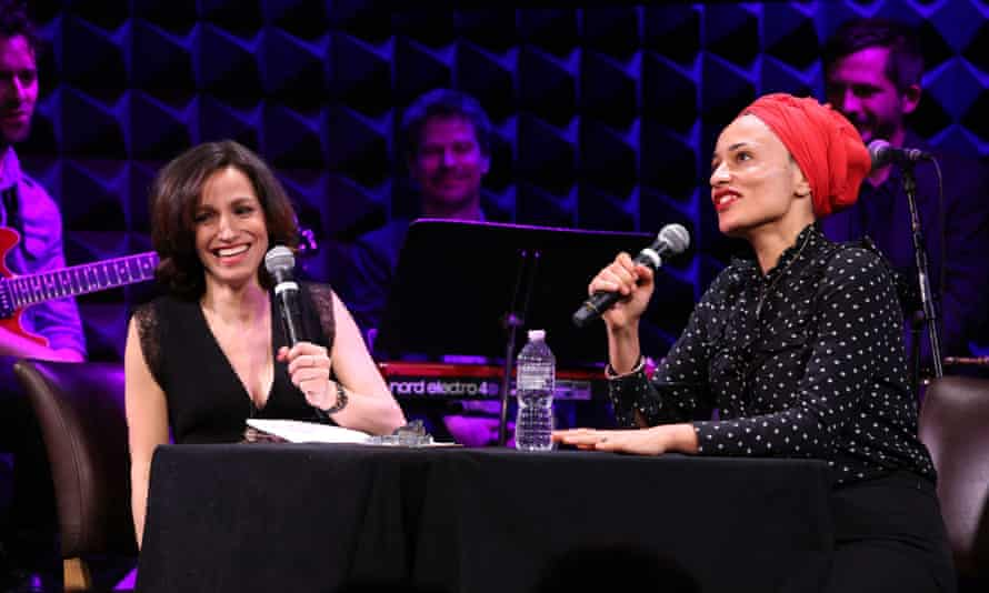 Catie Lazarus (left) and Zadie Smith in Employee Of The Month, Joe's Pub, New York, in 2017.
