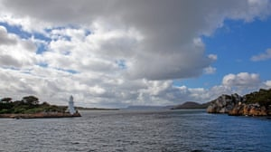Hells Gates, the Macquarie Heads entrance to Macquarie Harbour