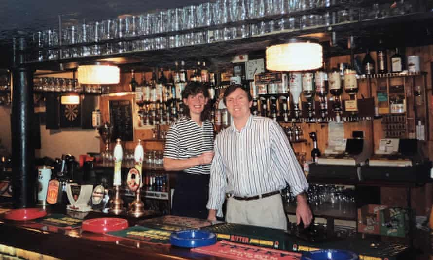 Kevin and Margaret Mintern, Cathy Rentzenbrink's parents, in their pub, the Bell & Crown in Snaith, East Yorkshire, in 1989.