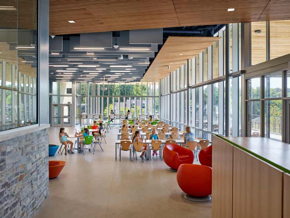 Discovery elementary school, the largest certified net-zero energy school in the US.