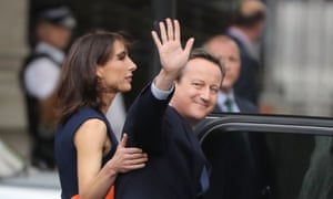 David Cameron with his wife Samantha leave 10 Downing Street
