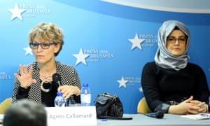 Agnes Callamard and Hatice Cengiz
