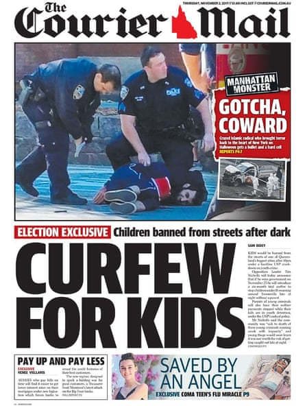 The Courier-Mail front page.