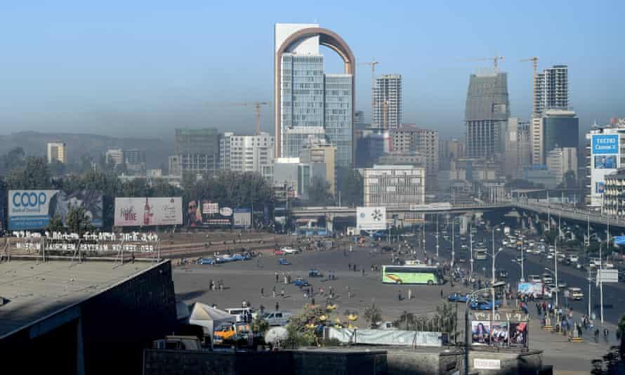 Addis Abeba, Ethiopia. 30th Jan, 2019. Meskel Square in the Ethiopian capital Addis Ababa.