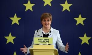 Nicola Sturgeon speaking in Edinburgh