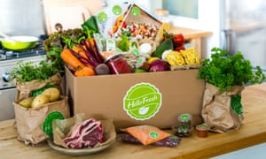 A HelloFresh delivery