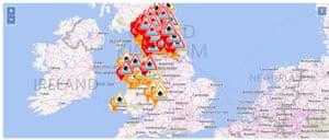 Live flood warnings