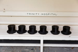 Trinity Hospital Greenwich, annual visitation to the sheltered accommodation provided by the Mercers' Company, London, 2015